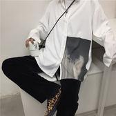 韓國複古港風簡約白色襯衫韓版長袖襯衣 男女款