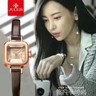 聚利時手錶女學生防水小方糖皮帶韓版潮流復古女士手錶 依凡卡時尚