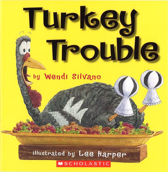 【麥克書店】TURKEY TROUBLE / 英文繪本《主題:幽默.想像.感恩節》