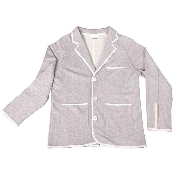 西裝外套『摩達客』美國LA設計品牌【Suvnir】灰色休閒西裝外套(11112082002)
