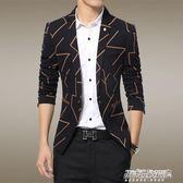 西裝 男士外套休閒小西裝韓版修身款西服男裝青年單西上衣   傑克型男館