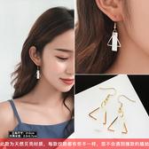 韓國個性耳墜氣質女耳釘網紅耳環長款新款潮 高級感小眾耳飾Ps:天然貝殼