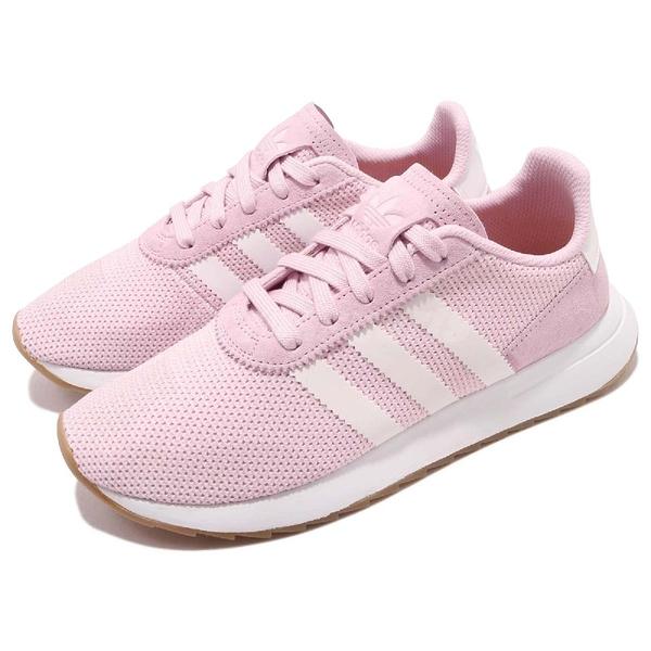 【四折特賣】adidas 休閒鞋 FLB_Runner W 粉紅 白 女鞋 膠底 Flashback 運動鞋【ACS】 DB2119