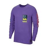 Nike Dry Tee LS A.I.R. 男款 紫彩 塗鴉 圓領 長袖 CW0942-554