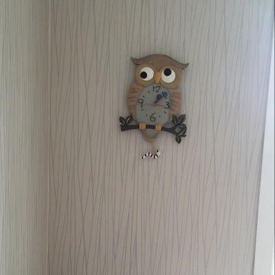 可愛創意Owl 掛鐘1 創意家居裝飾品 兒童房 客廳 臥室可愛壁鐘