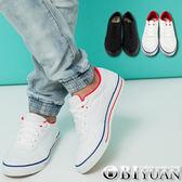 MIT手工帆布鞋【QTP19】OBI YUAN  韓版低筒綁帶休閒鞋共2色