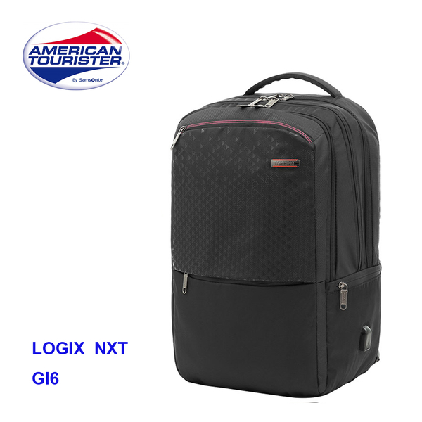 AMERICAN TOURISTER美國旅行者【LOGIX NXT GI6 】筆電後背包 RFID防盜 附筆電提袋 雨套