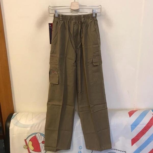 韓版百搭基本款高腰工作褲休閒褲(L號/222-7761)