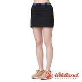 【wildland 荒野】女 彈性快乾排汗抗UV功能褲裙『黑色』0A91343 戶外 休閒 運動 吸濕 排汗 快乾 舒適