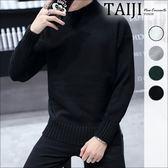 大尺碼高領針織毛衣‧素色螺紋高領針織毛衣針織衫‧四色‧加大尺碼【NTJBB1811】-TAIJI-