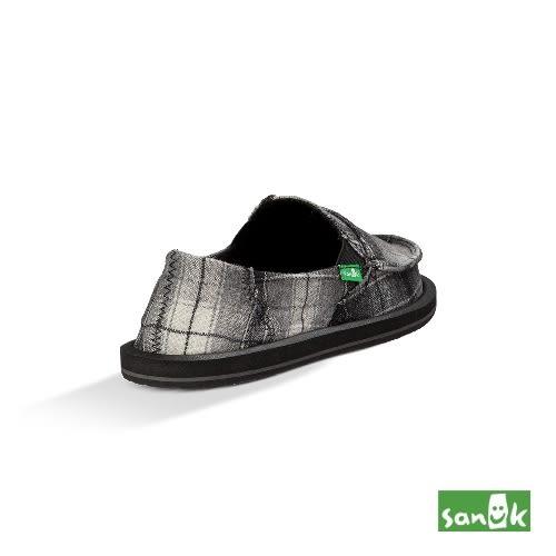 SANUK 口袋系列格紋懶人鞋-女款1014970 BPVS(黑色)