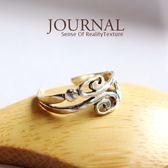 925純銀 古著迴旋圖騰戒指 尾戒  關節戒_質物日誌Journal