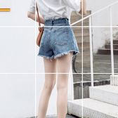 牛仔短褲女夏高腰韓版寬鬆百搭超學生復古a字熱褲 街頭布衣