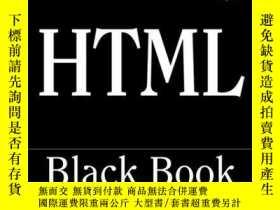 二手書博民逛書店HTML罕見Black Book: The Programmers Complete HTML Reference