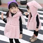 毛絨馬夾秋冬新款2兒童毛絨馬甲4女童正韓洋氣上衣女寶卡通1-3歲保暖6
