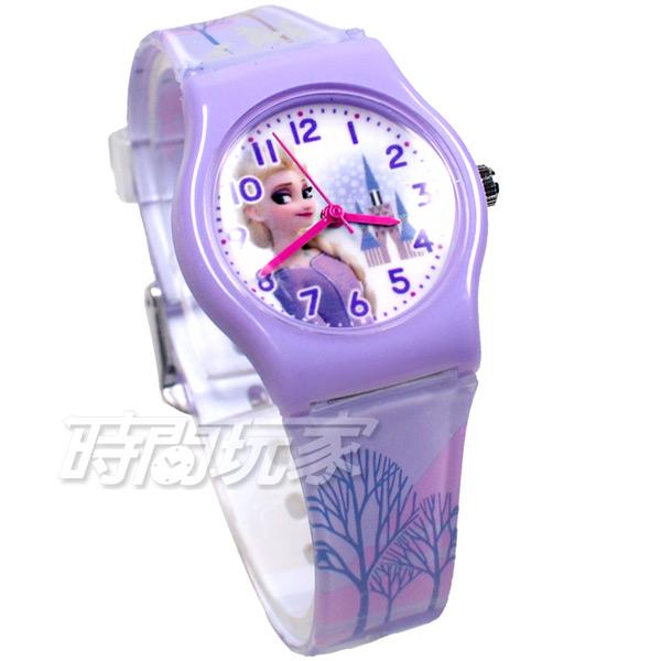 Disney 迪士尼 日本機芯 冰雪奇緣 艾莎公主 女王 安娜公主 兒童手錶 橡膠 女錶 紫色 FZ-3304紫小