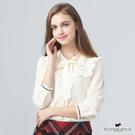 領邊蝴蝶結荷葉邊X袖口荷葉設計襯衫 Scottish House【AE1361】