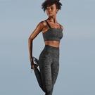 瑜珈服套裝(兩件套)-豹紋斜肩背心瑜珈褲女運動服2色73zk22【時尚巴黎】