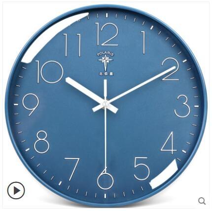 北極星鐘錶掛鐘客廳北歐簡約創意靜音時鐘掛墻家用時尚掛錶石英鐘 酷男精品館