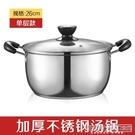 加厚不鏽鋼湯鍋蒸鍋熬湯鍋小火鍋家用雙耳煮鍋燃氣奶鍋CY『新佰數位屋』