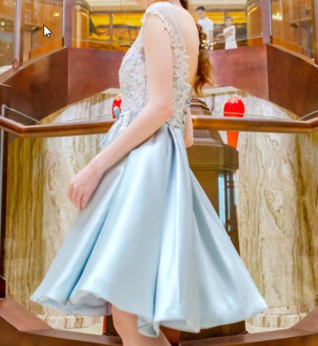 (45 Design)  訂做7天到貨 韓風婚紗禮服 晚宴 顯瘦性感晚宴結婚禮服婚紗 高級訂製短禮服10