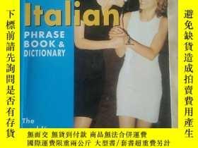 二手書博民逛書店Berlitz罕見Italian Phrase Book and Dictionary (Berlitz Phra