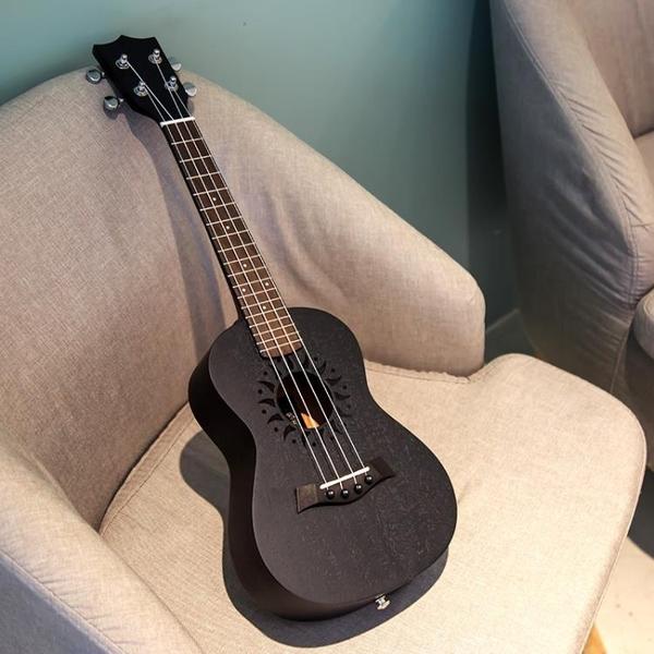 烏克麗麗 安德魯尤克里里23寸初學者尤克里里21寸26寸黑色學生男女小吉他 莎瓦迪卡