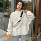 防曬衣外套女長袖韓版寬鬆百搭薄款棒球服【繁星小鎮】