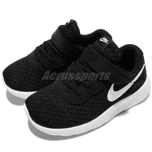 Nike 休閒鞋 Tanjun TDV 黑白 免綁鞋帶 運動鞋 黑 白 魔鬼氈 童鞋 小童鞋【PUMP306】 818383-011