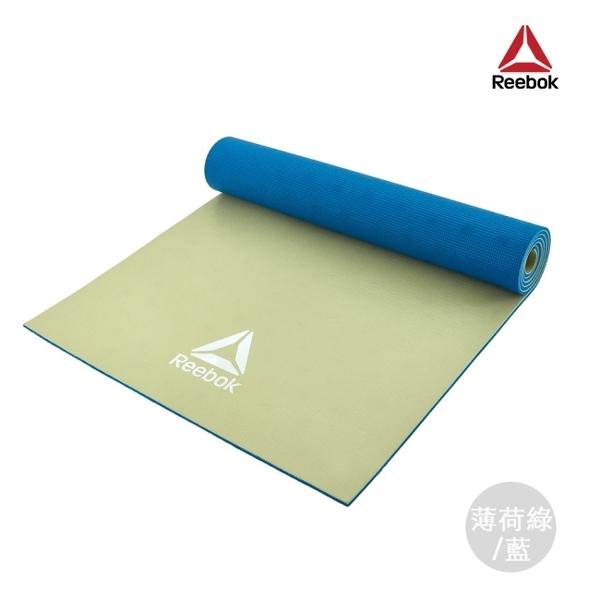 Reebok-專業訓練雙色瑜珈墊(薄荷綠/藍)(6mm)