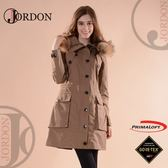 【JORDON 橋登 女 GORE-TEX 單件式大衣外套《深卡》】1964/長版大衣/防水