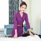 新款冬美容師洋裝養生館工作服裝女秋季美容院按摩會所技師套裝