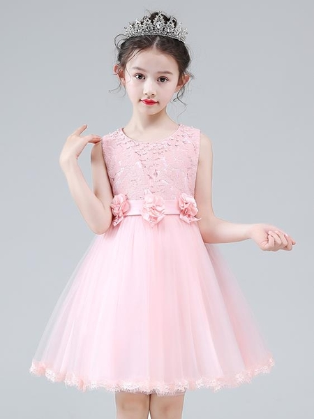 公主裙女童夏裝2021新款蓬蓬紗童裝禮服小女孩裙子兒童洋氣連衣裙 霓裳細軟