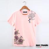Big Train 富景金燕女款圓領T-女-粉桔色-Z8505012