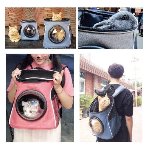 *WANG*寵喵樂 寵物時尚潮流 太空外出透氣雙肩背包 二款顏色 犬貓適用寵物外出包