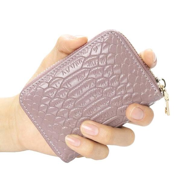 長夾手拿包 卡包女式多卡位大容量歐美鱷魚紋頭層拉鏈風琴信用卡片零錢包【快速出貨八折下殺】