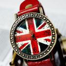 【BOBO】復古英倫風情皮革錶-紅 FFQ-1886