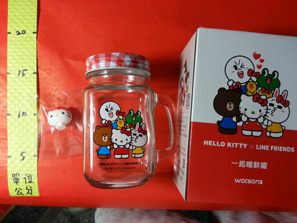 315991#一起嚐鮮罐1個 凱蒂貓限定款#480ml 屈臣氏 超級好朋友 集點 加購商品 HELLO KITTY&LINE FRIENDS