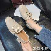 樂福鞋鞋子女新款軟妹小皮鞋百搭女鞋冬韓版一腳蹬樂福鞋粗跟單鞋女 初語生活