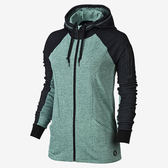 Hurley X NIKE DRI-FIT科技 FLEECE ZIP UP HOODIE Beach Active-連帽外套 -女(綠/深灰)