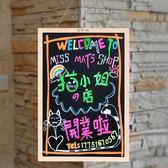 實木黑板掛式小黑板店鋪用廣告牌辦公家用黑板墻書寫宣傳無塵展示板兒童教學熒光手寫裝飾菜