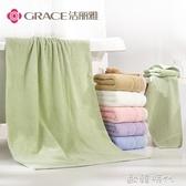 1浴巾2毛巾純棉成人柔軟男女嬰兒吸水可愛韓版厚浴巾套裝 歐韓時代