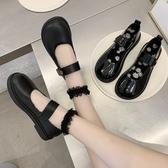 lolita鞋瑪麗珍lolita小皮鞋女英倫2020年夏新款黑色小雛菊日系jk制服單鞋 衣間迷你屋