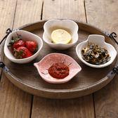 中式創意陶瓷味碟子醬料碟家用可愛小菜碟醬油調味碟餐具   初見居家