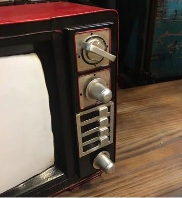 [協貿國際]   老式電視機擺件咖啡廳桌面裝飾品  (1入)