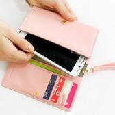 長款多功能拉鍊錢包 手機包 4色任選【AE16041】母親節  99愛買生活百貨