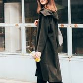 風衣外套-寬鬆顯瘦純色連帽女夾克73hu73[時尚巴黎]