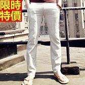 亞麻長褲-質感極致輕薄鬆緊帶男休閒褲3色68b33【巴黎精品】