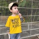 童裝男童長袖t恤2020新款韓版小童秋裝假兩件兒童秋款寶寶打底衫  【端午節特惠】