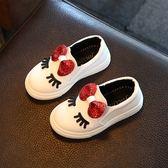 兒童保暖鞋 女童鞋板鞋中小童寶寶小白鞋女孩休閒鞋新款兒童運動鞋【快速出貨好康八折】